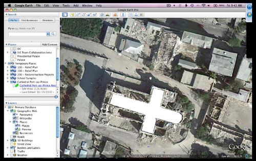 Mixing Google Earth and SketchUp features, participants and visualize repair structures for earthquake damaged buildings.